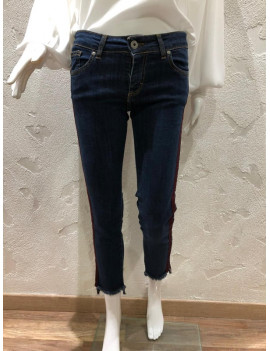 Jeans con banda laterale -...